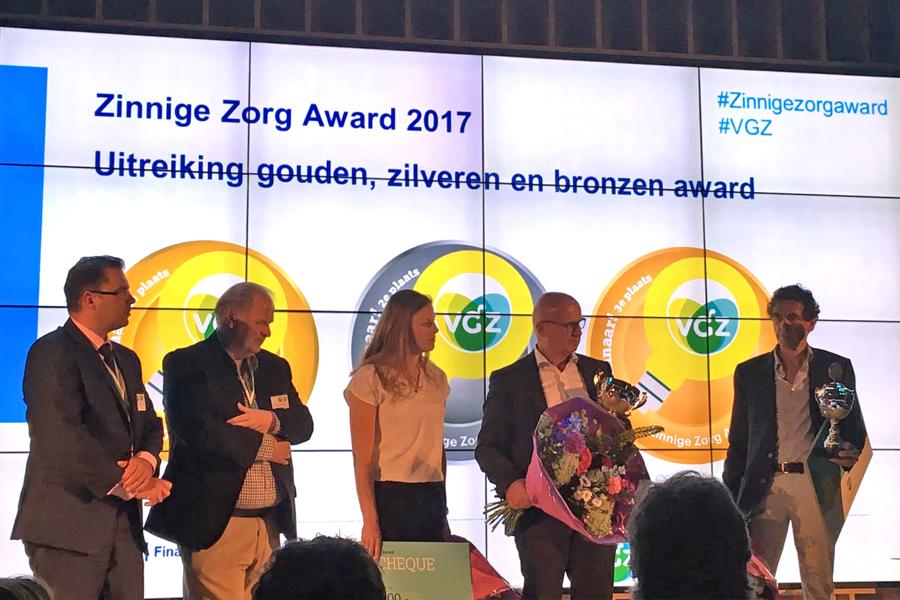 Cox Novum productontwikkeling Stomydo zinnige zorg award 2017 award foto