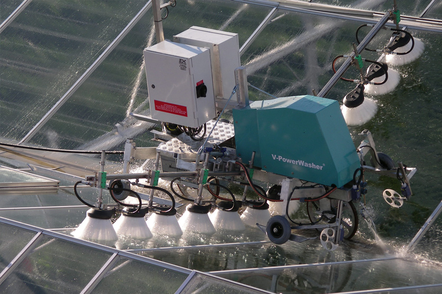 Kasdekreiniger V-Powerwasher reinigt het kasdek grondig